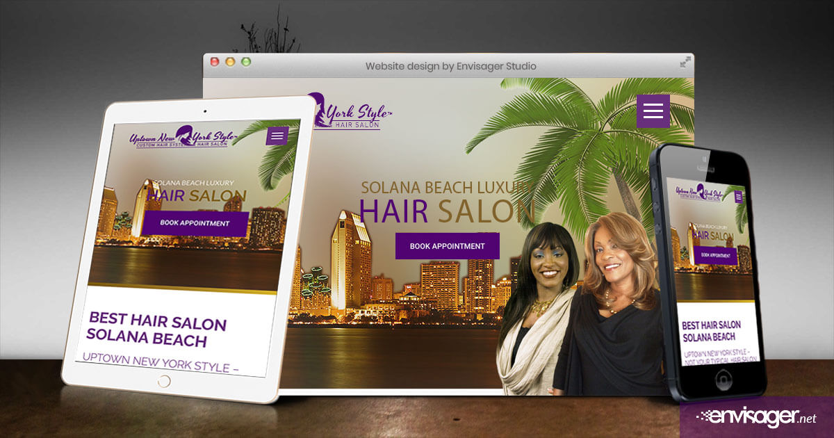 Hair Salon in Solana Beach Launches New Website | Envisager Studio