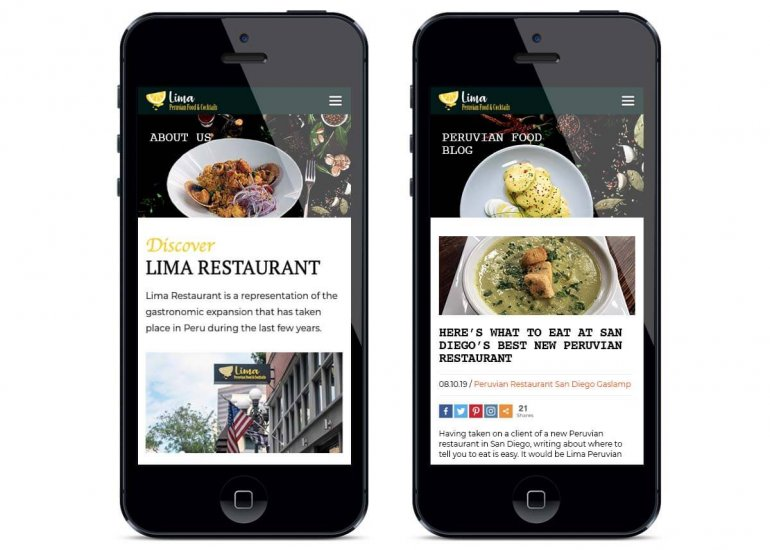 Website Development Restaurants
