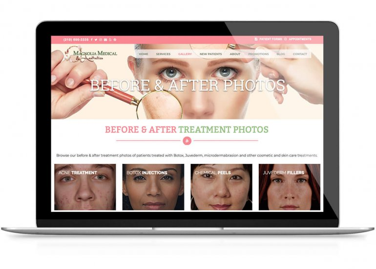 Website Design-Magnolia Medical & Aesthetics