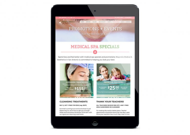 Medical Spa Website Design