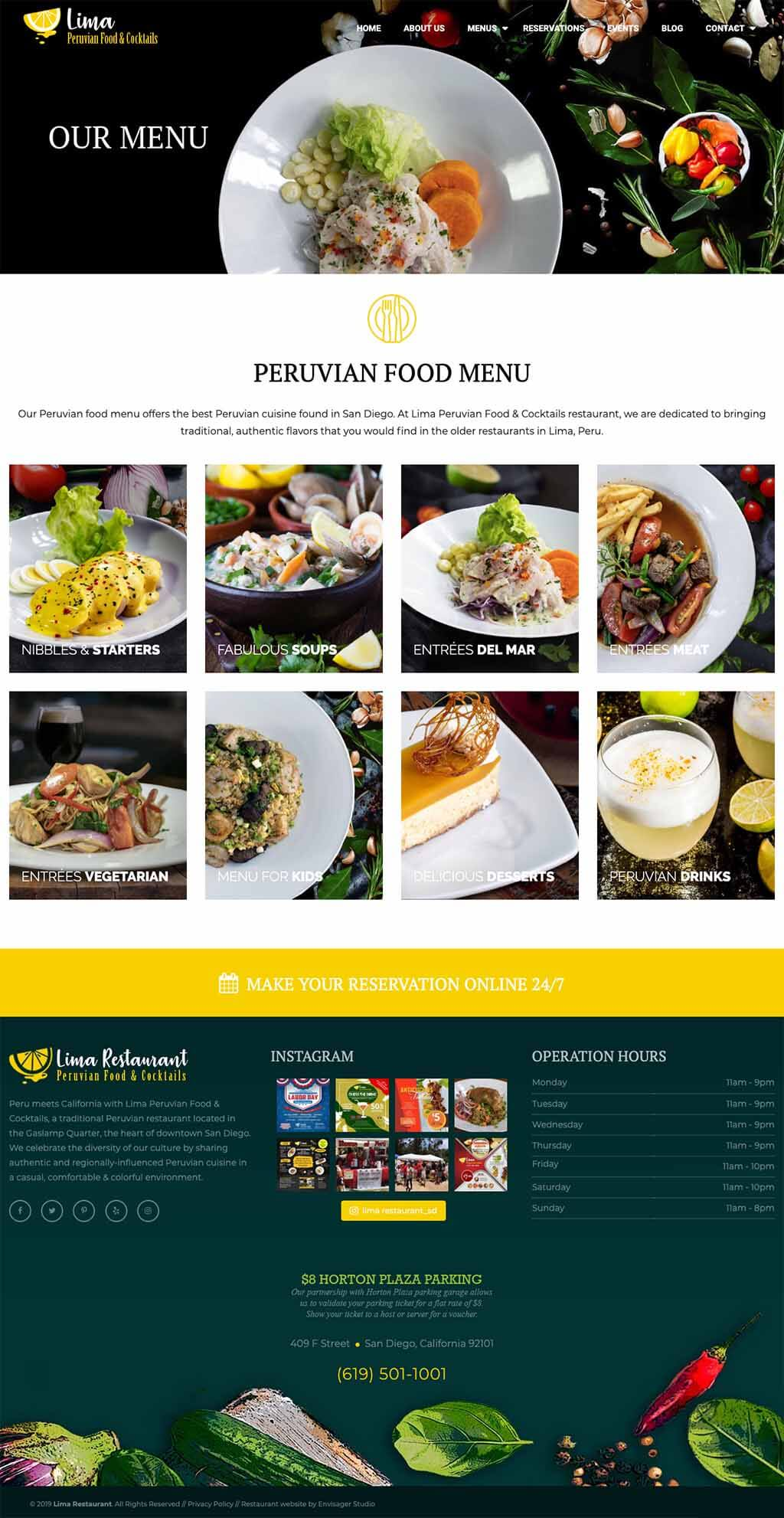 Restaurant Website Design by Envisager Studio