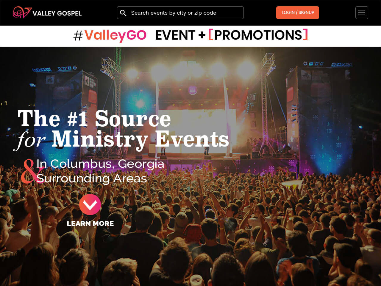 Valley Gospel Website Design