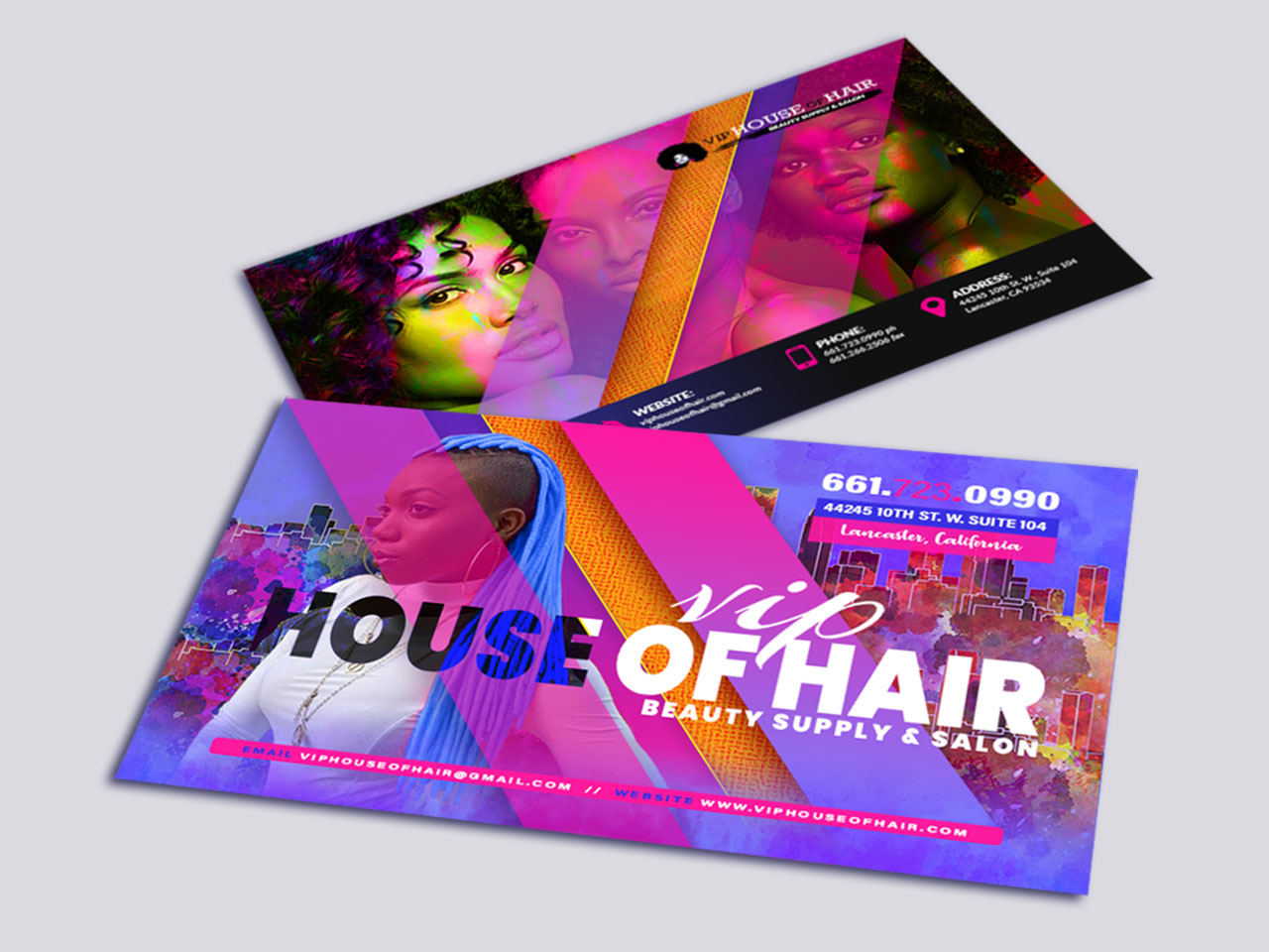Business Card Design VIP House Of Hair Beauty Supply