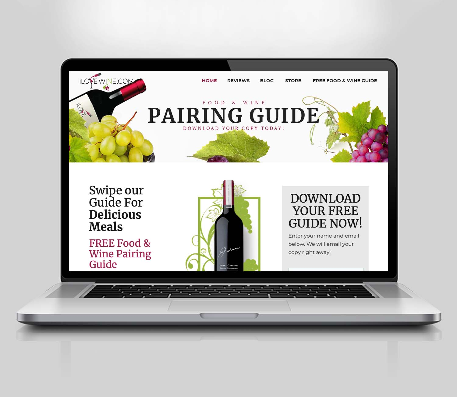 Wine Blog Website Design