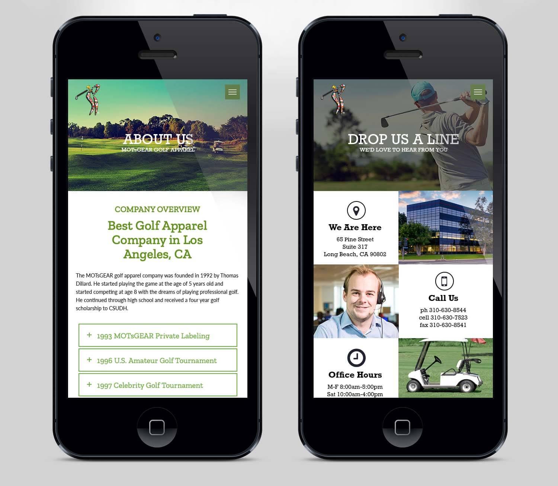 Golf Website Design