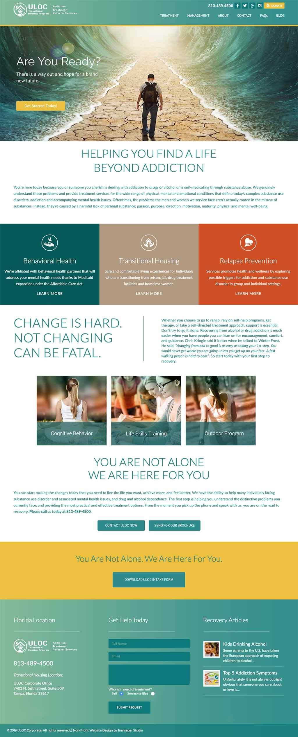 Website Design Substance Abuse Referral Services