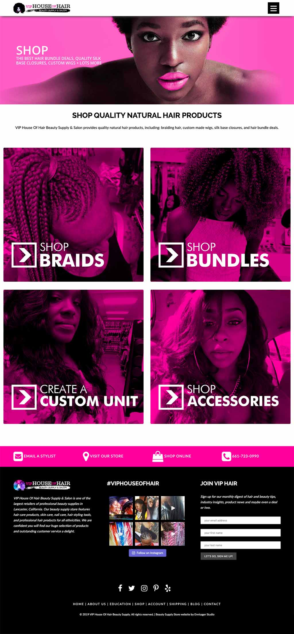 Beauty Supply Store Website Design