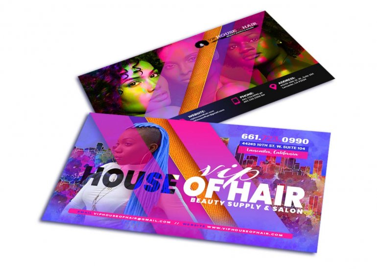 Beauty Business Card Design San Diego
