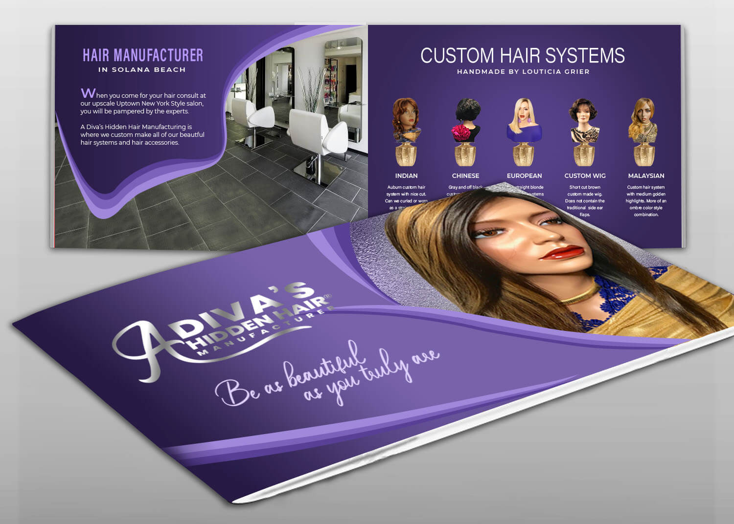 Hair Salon Products Catalog Design