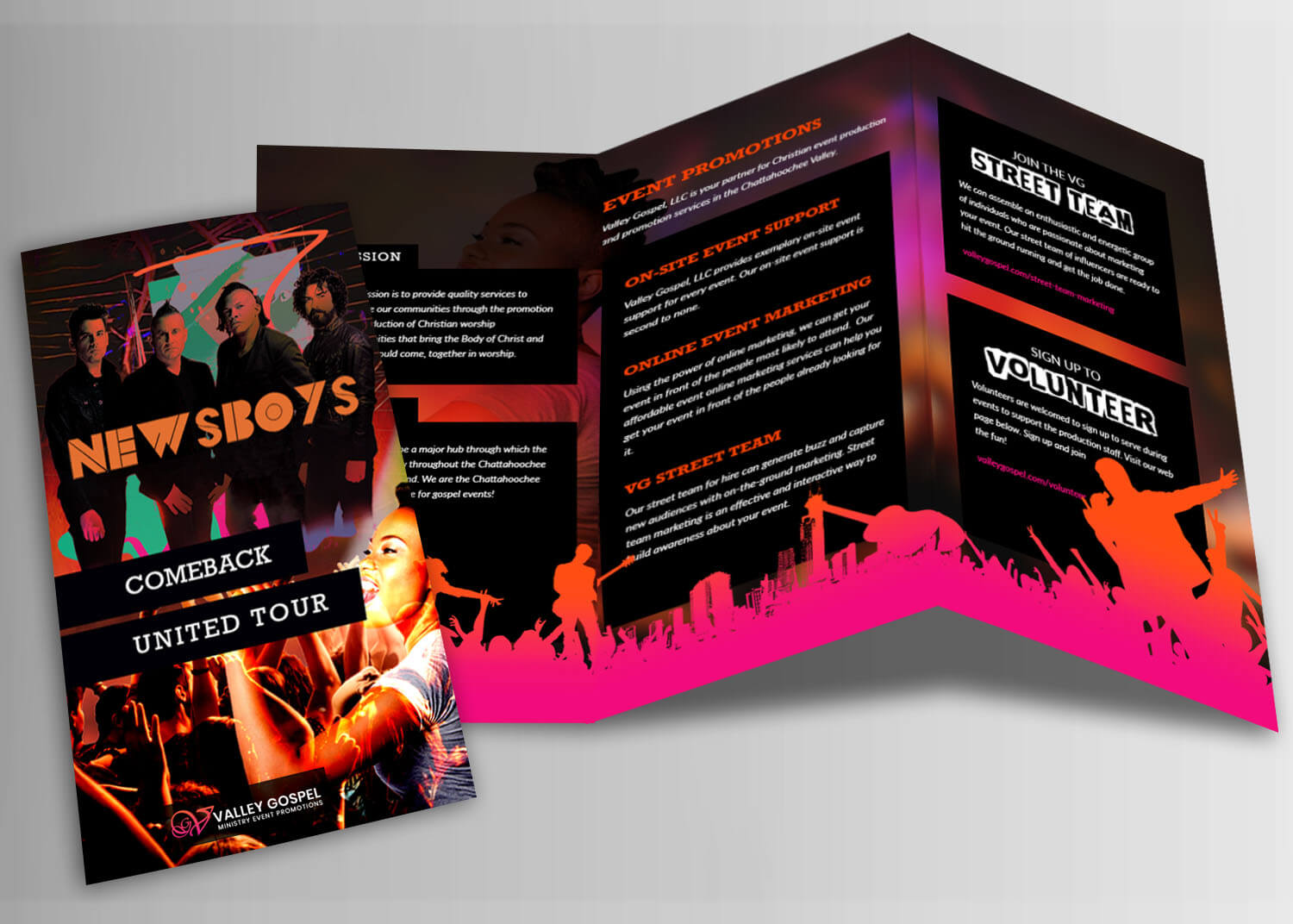Music Concert Brochure Template Design