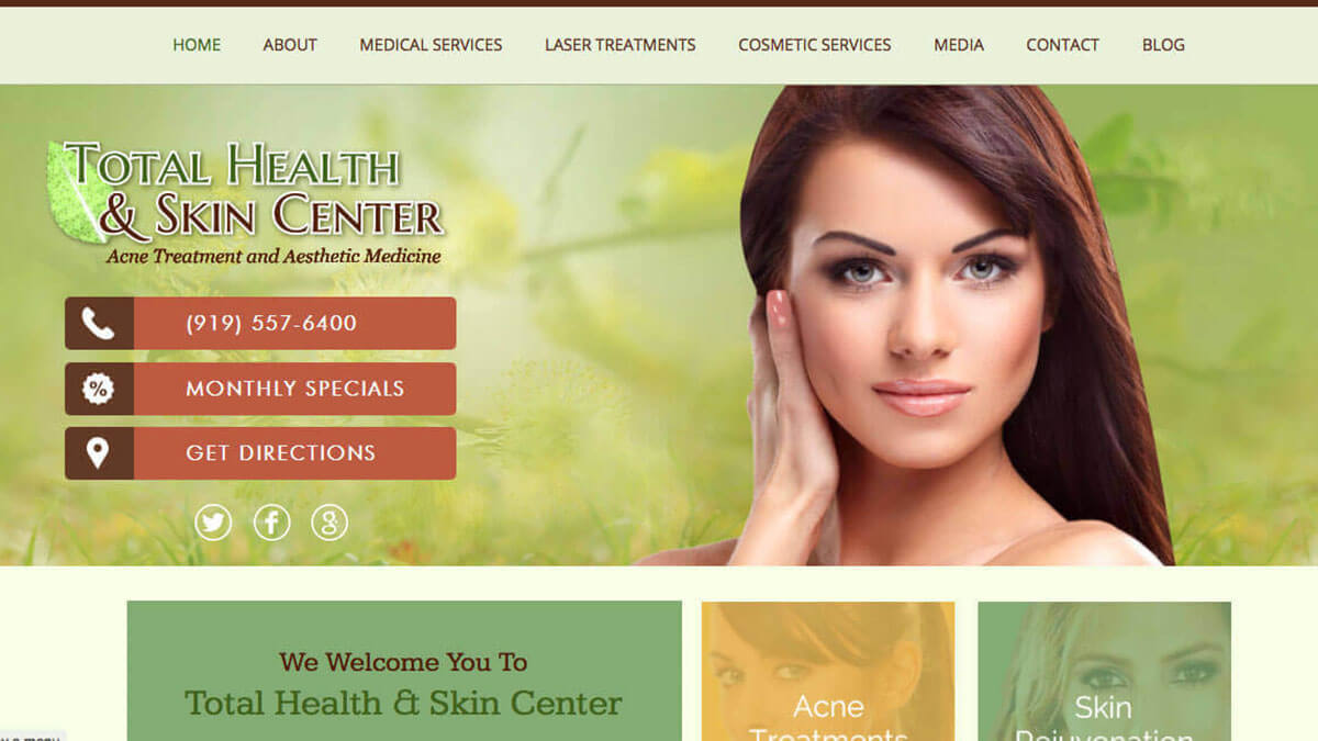 Wellness Spa Website Design