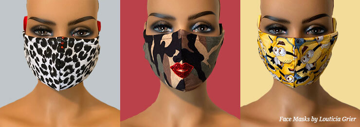 Fashion Face Masks by Louticia Grier