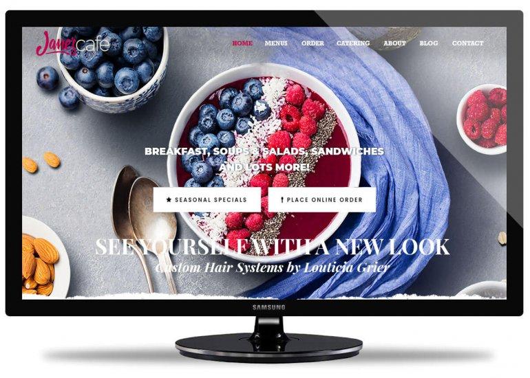 Jane's Cafe San Diego Website Design by Envisager Studio
