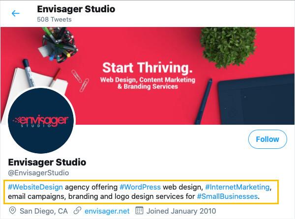 Small Business Twitter Marketing Strategy: The Bio