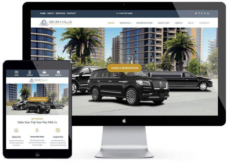 Limousine Website Design Services