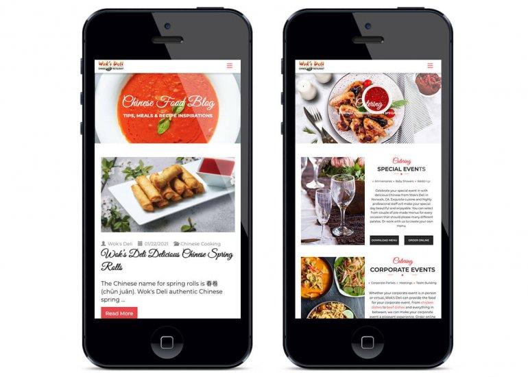 Chinese Restaurant Website Design