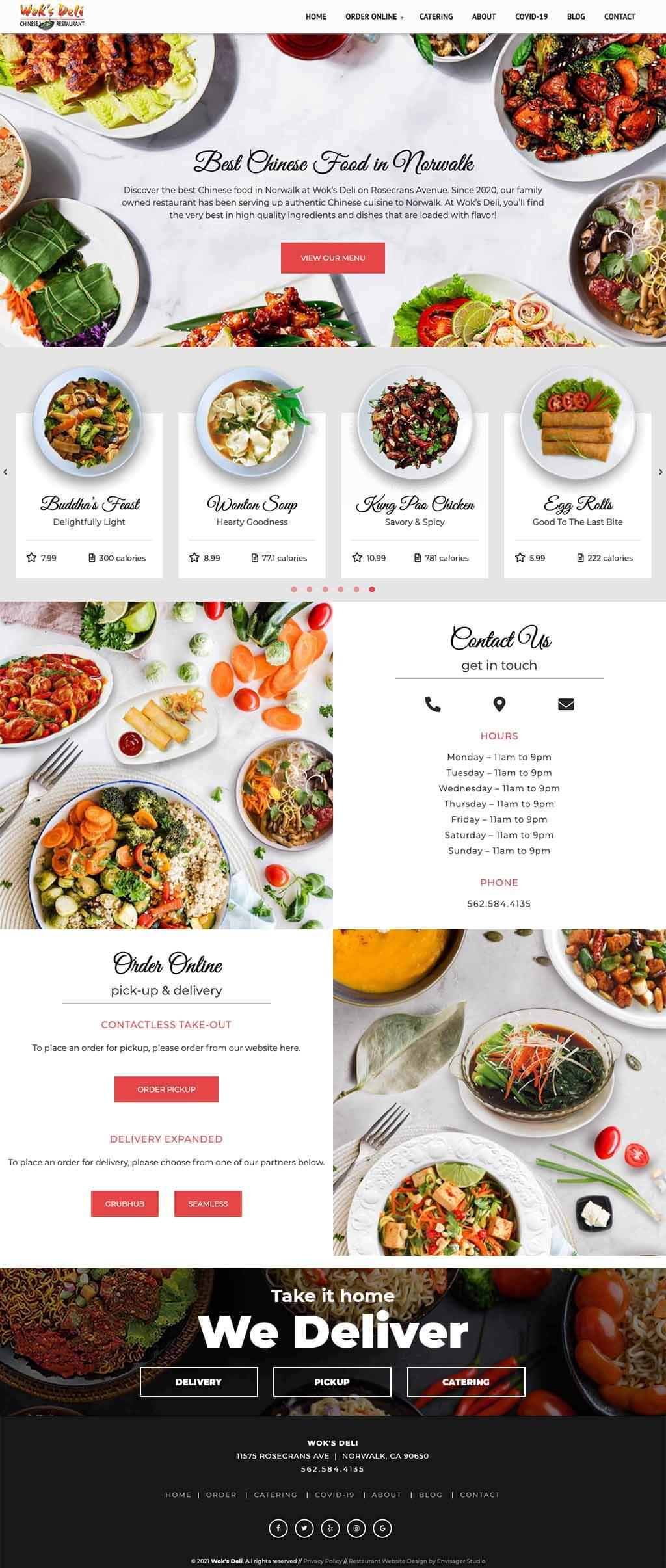 Wok's Deli Chinese Restaurant Website Design