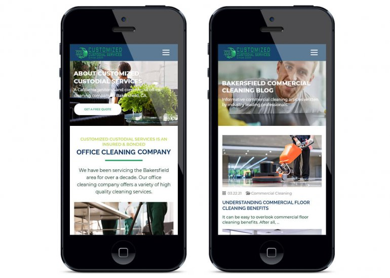 Commercial Cleaning Website Examples