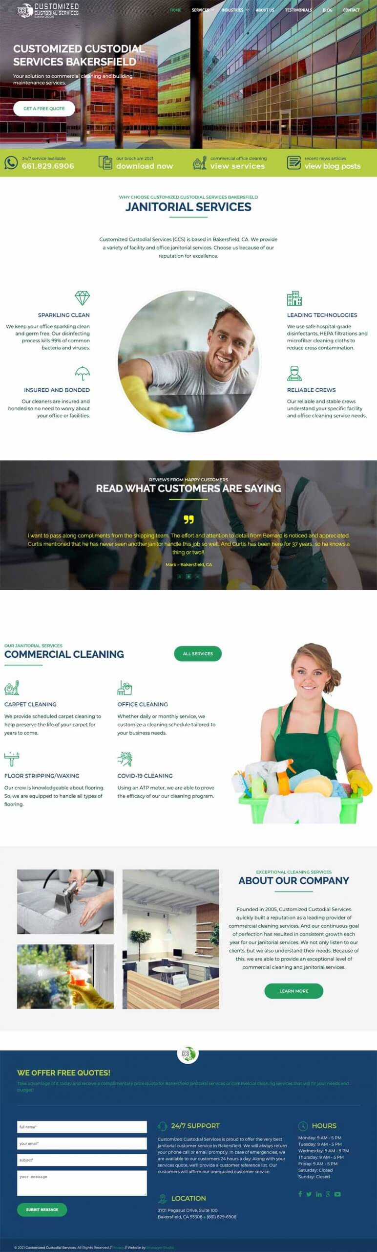 Cleaning Services Website Examples