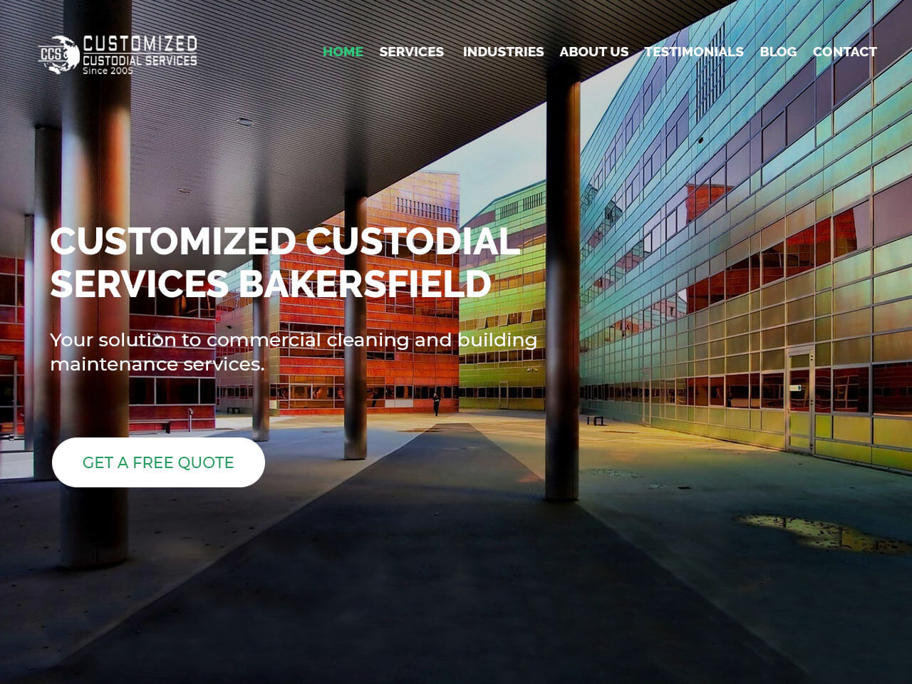 Commercial Cleaning Website Design