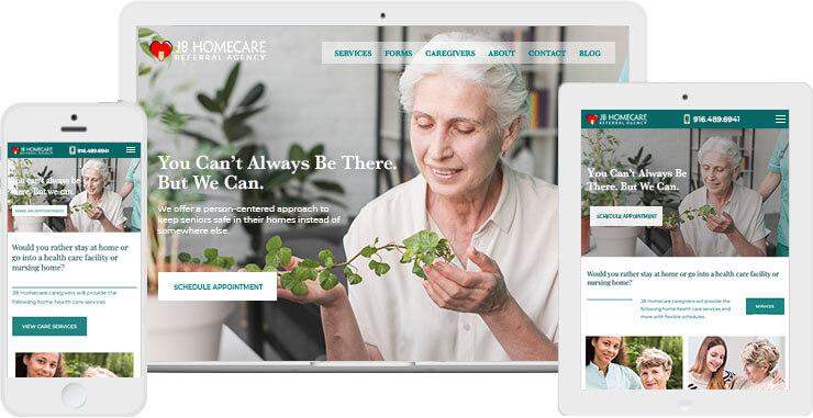Best Home Care Website Design - JB Homecare