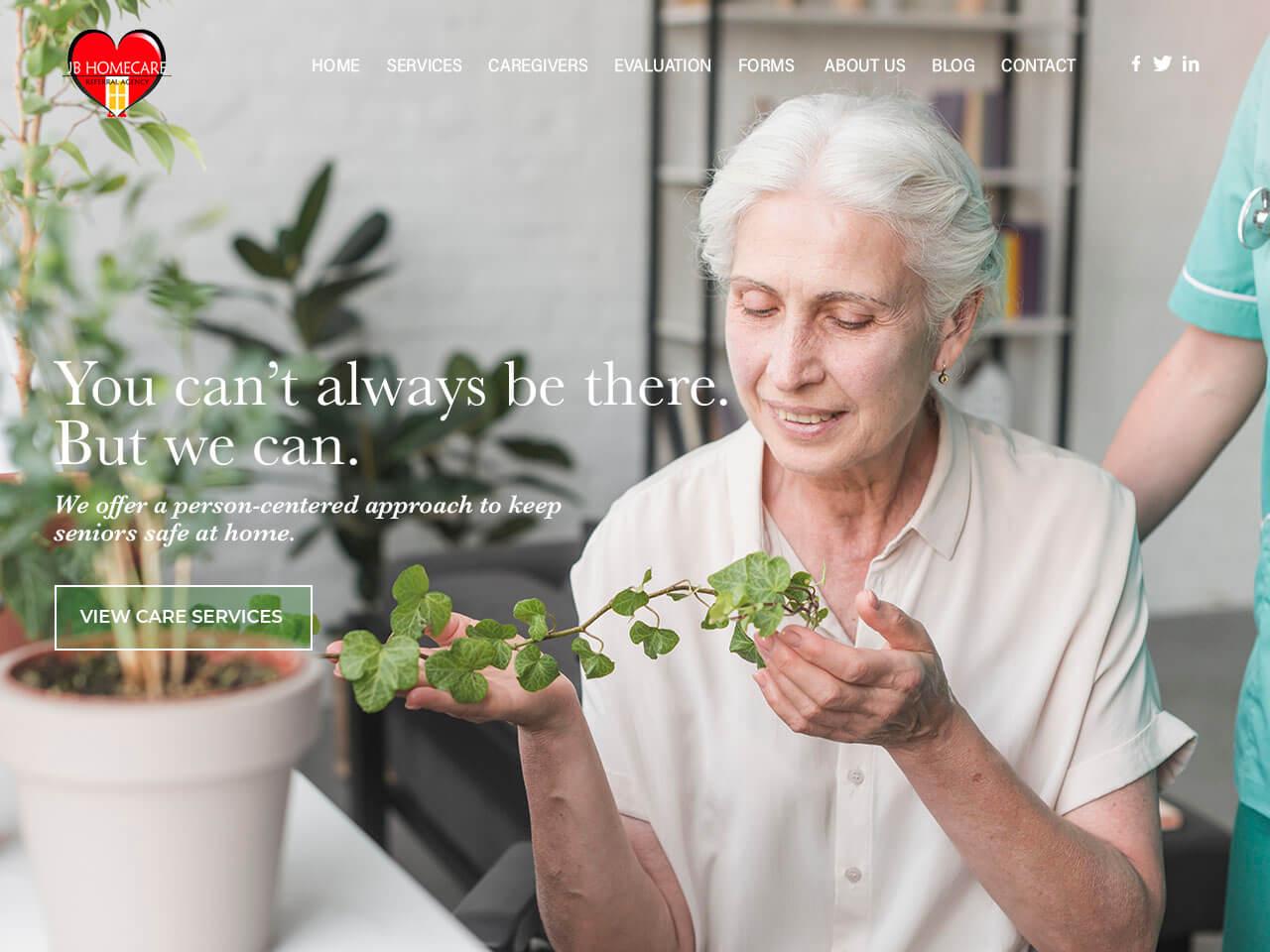 Home Care Website Design | Envisager Studio
