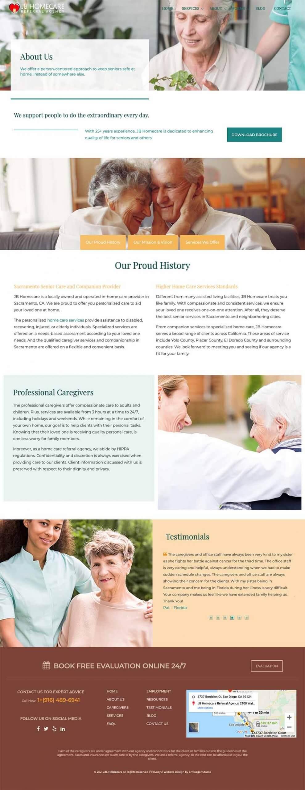 Best Home Care Websites | Envisager Studio