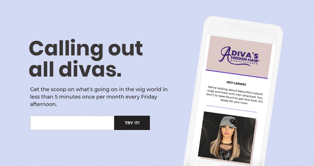 Marketing Emails Example A Diva's Hidden Hair