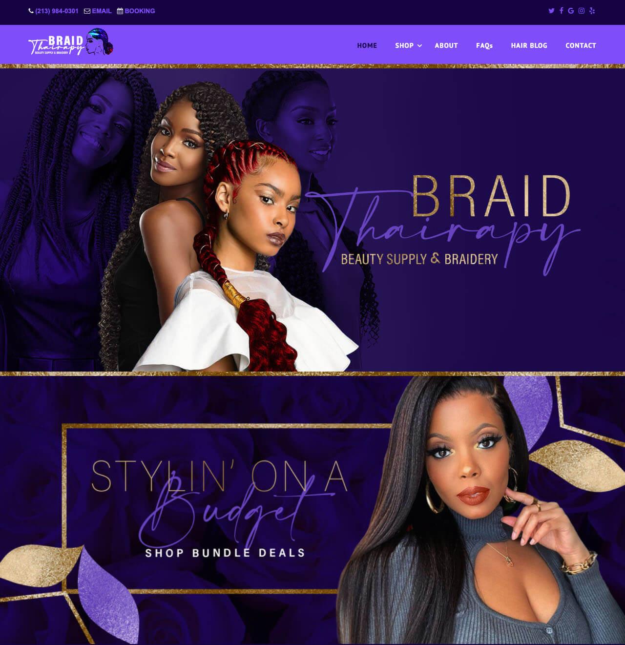 Best Hair Salon Websites by Envisager Studio