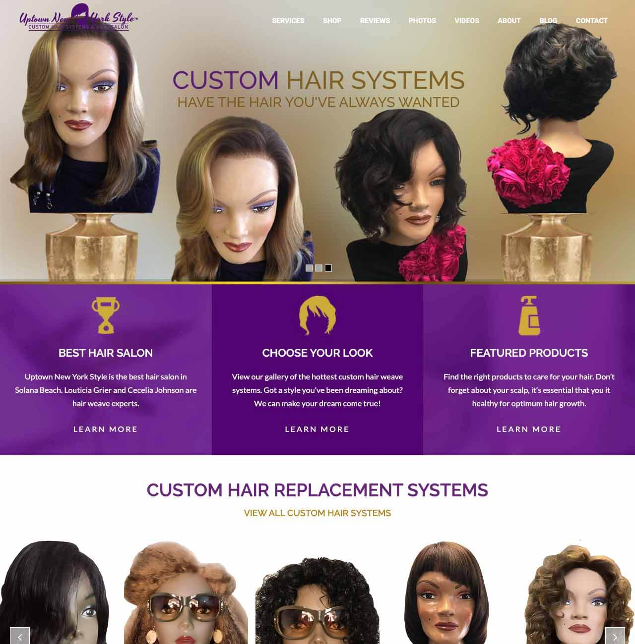 Hair Salon Website Examples by Envisager Studio