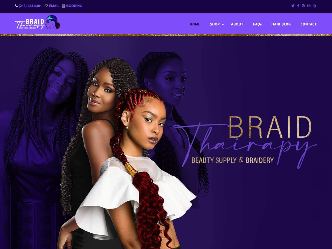 Hair Braiding Salon Website Design by Envisager Studio